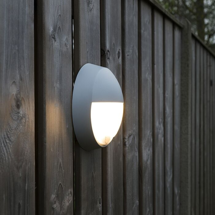 Außenwandleuchte-grau-inkl.-LED-mit-Bewegungsmelder-IP54---Hortus