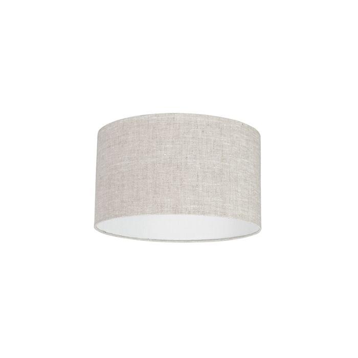 Lampenschirm-aus-Stoff-hellgrau-35/35/20