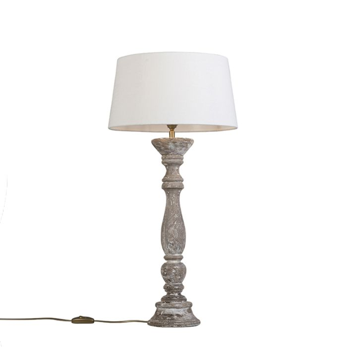 Tischleuchte-Ritual-weiß-mit-Lampenschirm-35-cm-weiß
