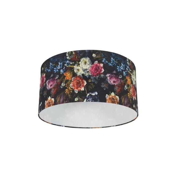 Lampenschirm-aus-Baumwolle-50/50/25---Flora