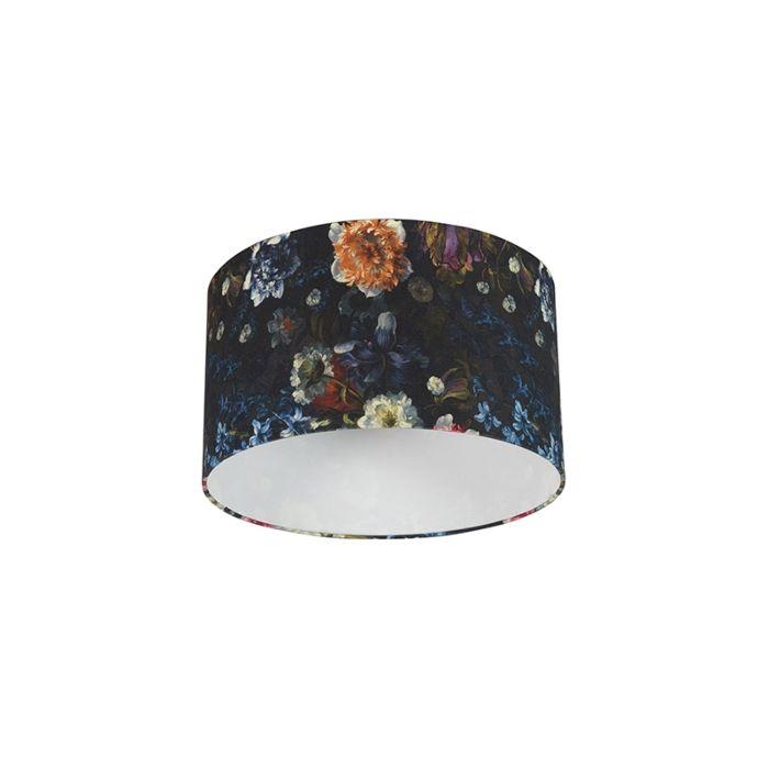 Cotton-Lampenschirm-35/35/20---Flora
