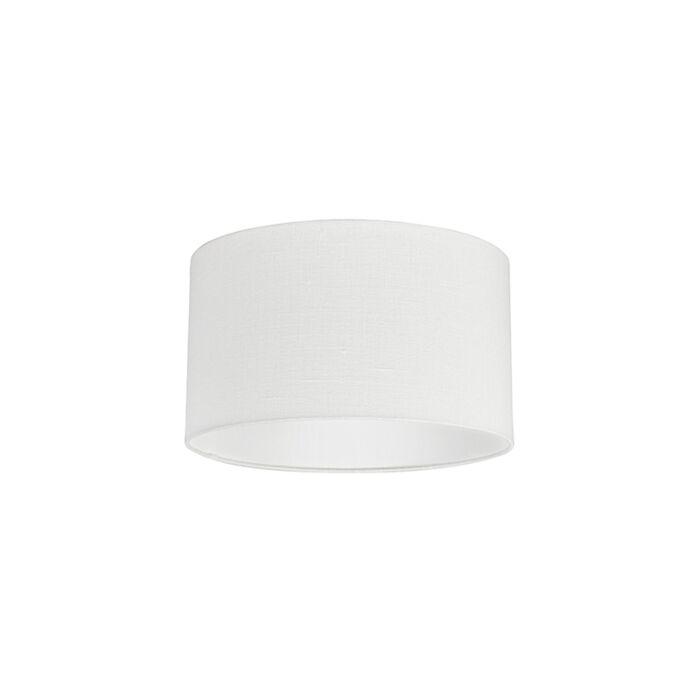 Stoff-Lampenschirm-weiß-35/35/20