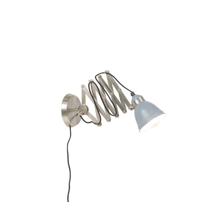 Industrielle-Wandscherenlampe-Stahl-erkennbar---Avera