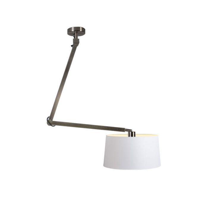 Pendelleuchte-Accio-stahl-mit-Lampenschirm-45cm-weiß