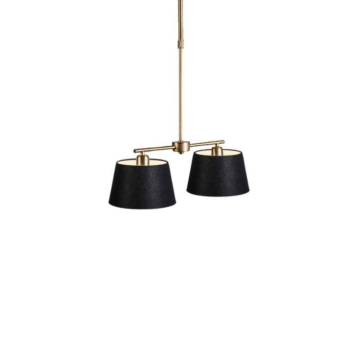 Hängelampe-Mix-2-Bronze-Dimmer-mit-Schirm-20-cm-schwarz