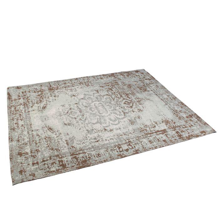 Vintage-rechteckiger-Teppich-braun-/-grün-160-x-230-cm---Kanpur