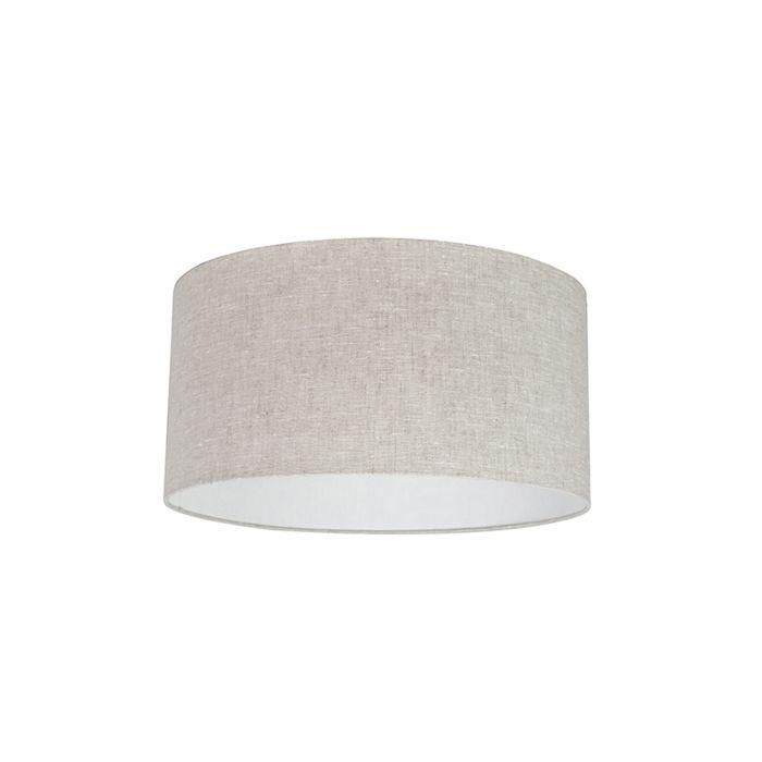 Lampenschirm-aus-Stoff-hellgrau-50/50/25