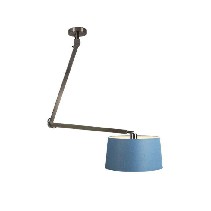 Pendelleuchte-Accio-Stahl-mit-Lampenschirm-45-cm-blau