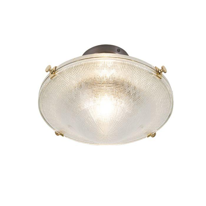 Retro-Deckenlampe-Kupfer-mit-Vintage-Klarglas---Anjar