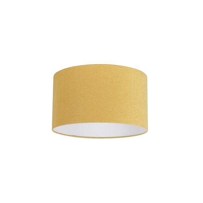Stofflampenschirm-gelb-35/35/20
