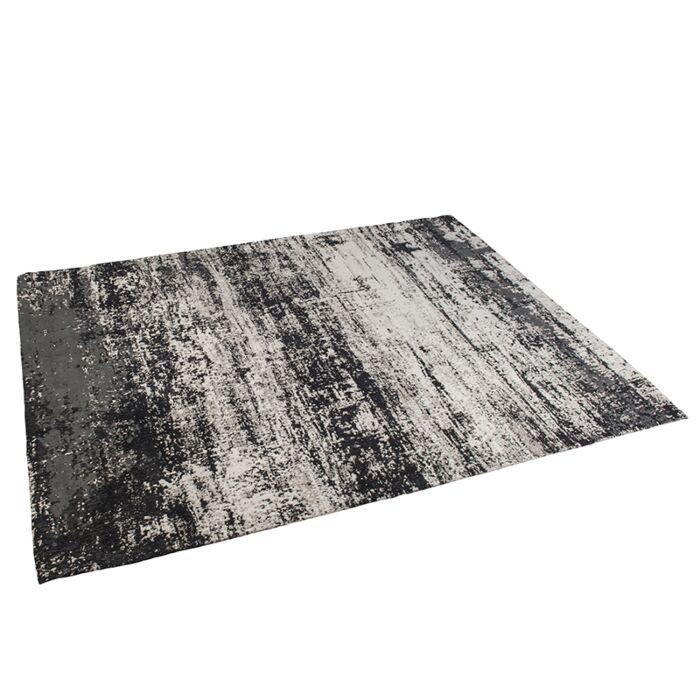 Vintage-rechteckiger-Teppich-schwarz-/-beige-160-x-230-cm---Kochi