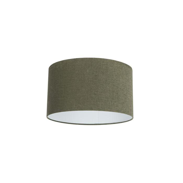 Stoff-Lampenschirm-dunkelgrün-35/35/20