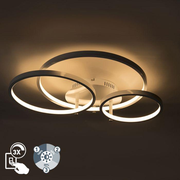 Moderne-Deckenleuchte-weiß-inkl.-LED-und-Dimmer-Rondas
