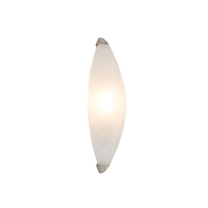 Wandleuchte-Rigo-Marmorglas-mit-Nickel