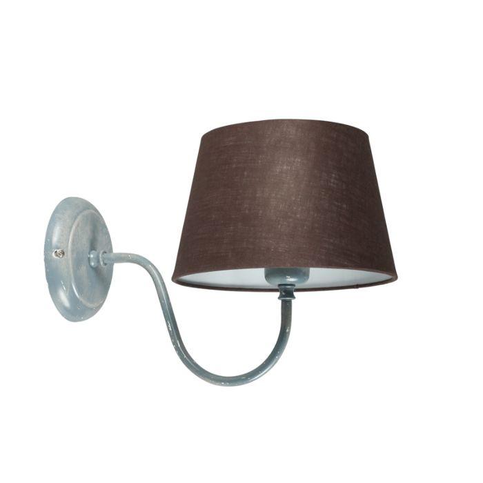 Wandleuchte-Combi-Classic-Beton-mit-Schirm-20-cm-braun-grau