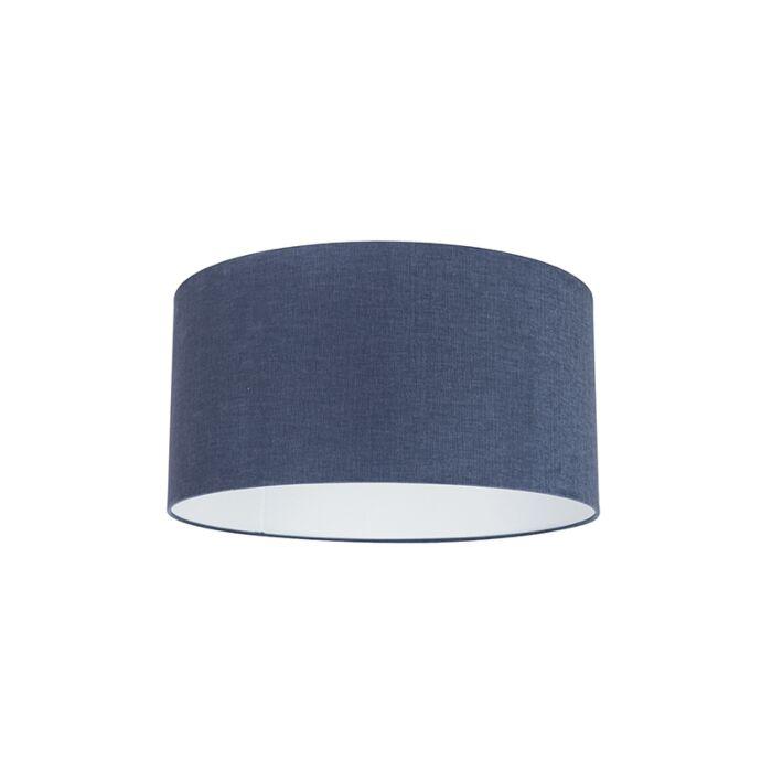 Stoff-Lampenschirm-dunkelblau-50/50/25