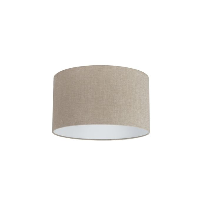 Stoff-Lampenschirm-hellbraun-35/35/20