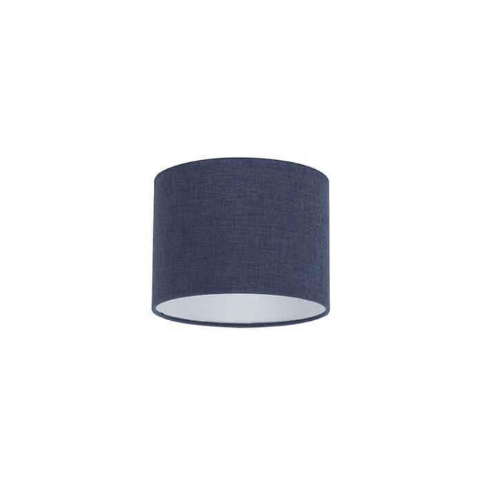 Stoff-Lampenschirm-dunkelblau-20/20/15