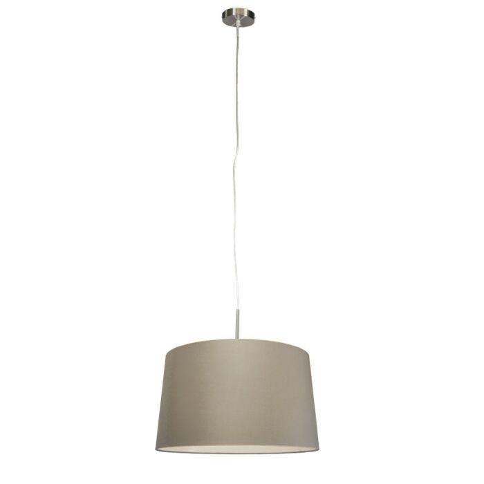 Moderne-Hängelampe-Stahl-mit-Schirm-45-cm-Taupe---Combi-1