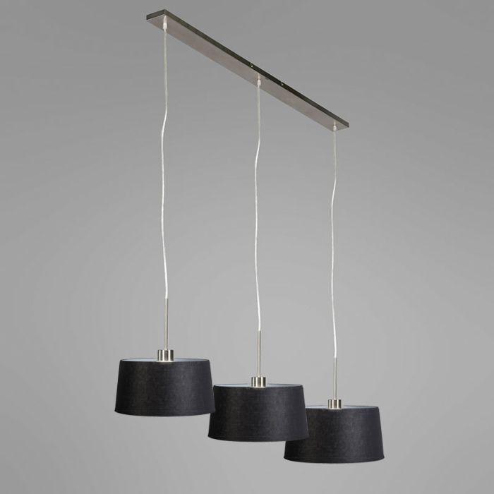 Hängelampe-Combi-3-Stahl-mit-Schirm-35cm-schwarz