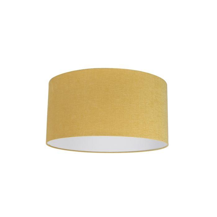 Stofflampenschirm-gelb-50/50/25