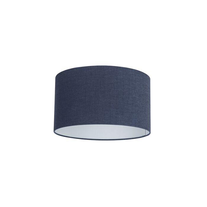 Stoff-Lampenschirm-dunkelblau-35/35/20