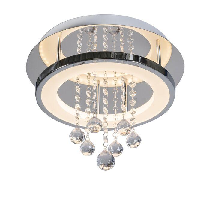 Moderne-Deckenleuchte-Chrom-mit-Kristall-inkl.-LED---Tessa