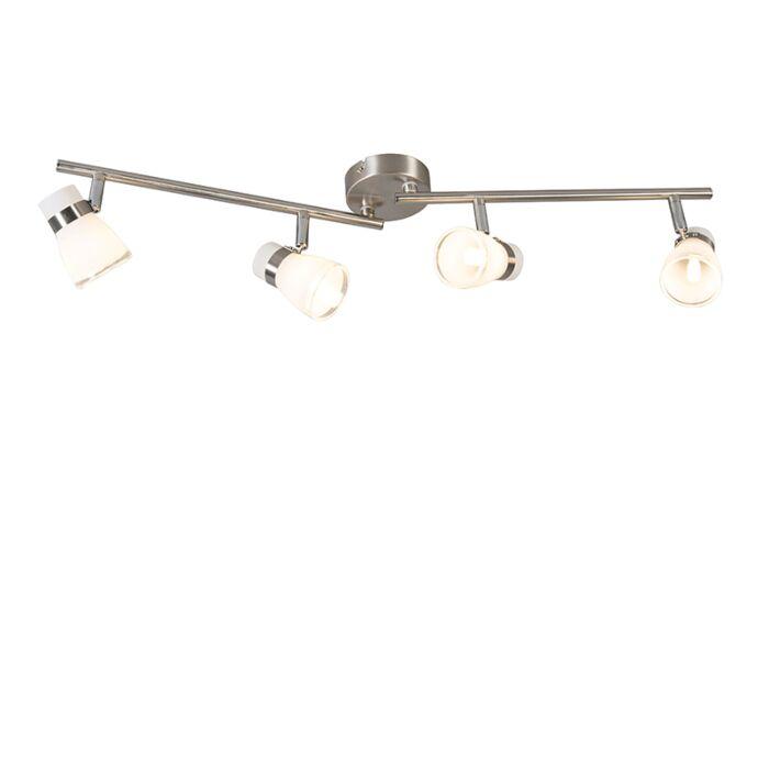 Deckenstrahler-Stahl-drehbar-und-kippbar-4-Licht---Nadia