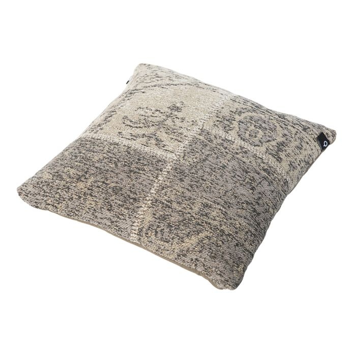 Vintage-quadratisches-Kissen-grau-45-x-45-cm---Agra