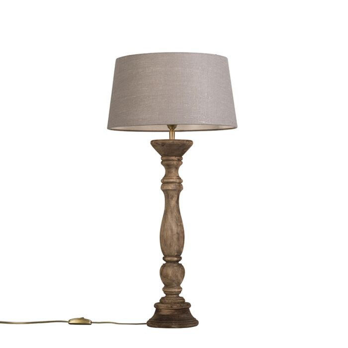 Tischleuchte-Ritual-Natur-mit-Lampenschirm-35-cm-altgrau