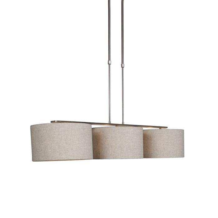 Moderne-Hängelampe-Stahl-mit-Schirm-35-cm-Pfeffer---Combi-3-Deluxe