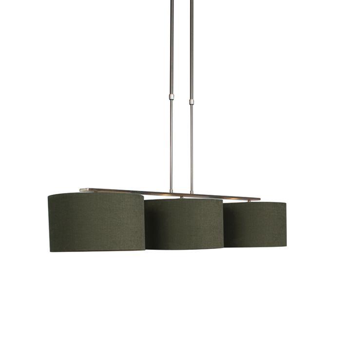 Hängelampe-Stahl-mit-Schirm-35-cm-moosgrün---Combi-3-Deluxe