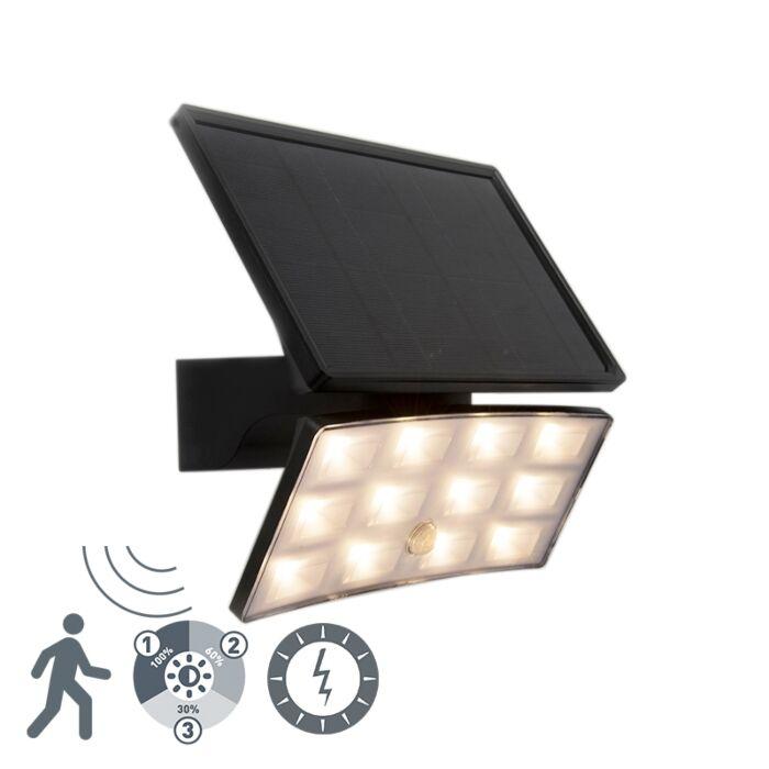 Scheinwerfer-schwarz-IP44-inkl.-LED-mit-Bewegungssensor-8W---Flip