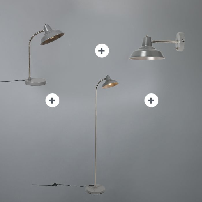 Set-aus-Tischleuchte,-Stehleuchte-und-Wandleuchte-Pixa-grau