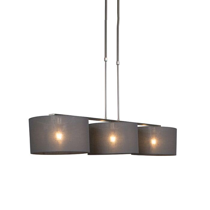 Hängelampe-Stahl-mit-Schirm-35-cm-dunkelgrau---Combi-3-Deluxe