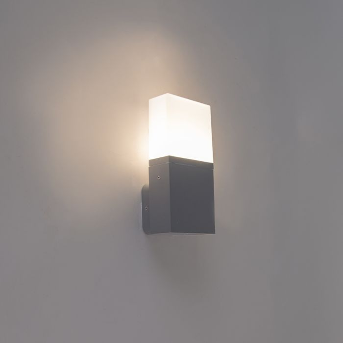 Moderne-Außenwandleuchte-dunkelgrau-inkl.-LED-IP54---Malia