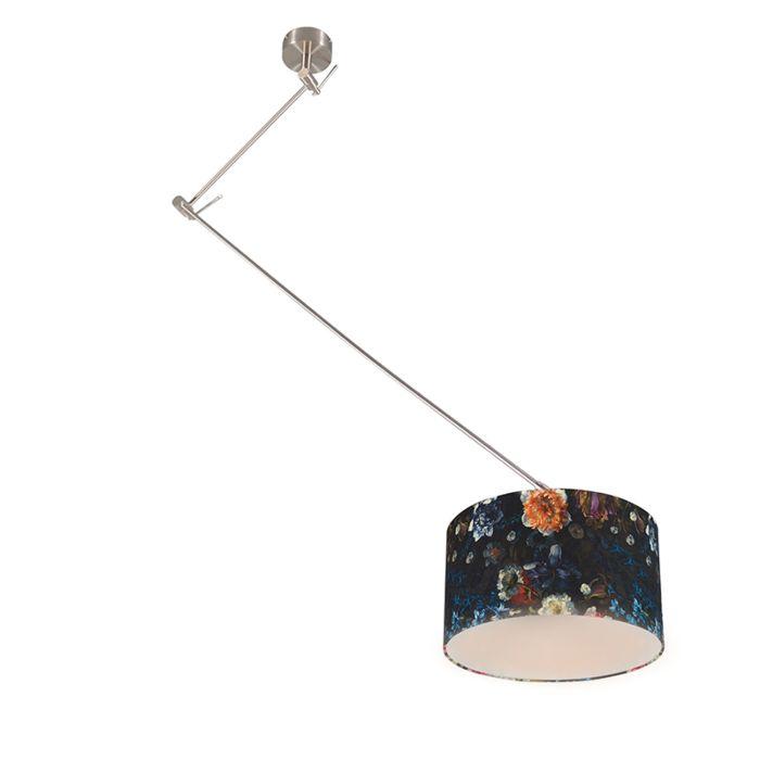 Moderne-Hängelampe-Stahl-mit-Pflanzenschirm-35-cm---Blitz-1