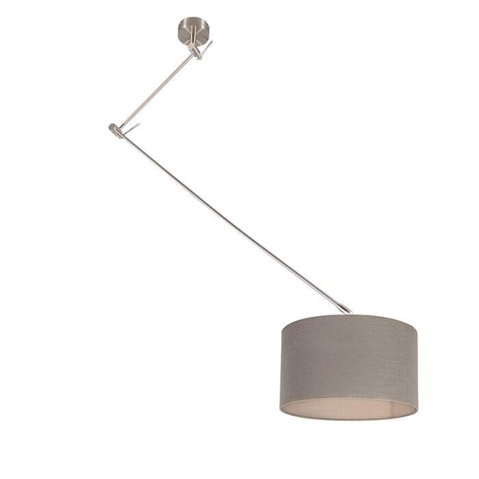 Hängelampe-Stahl-mit-Schirm-35-cm-taupe-verstellbar---Blitz-I