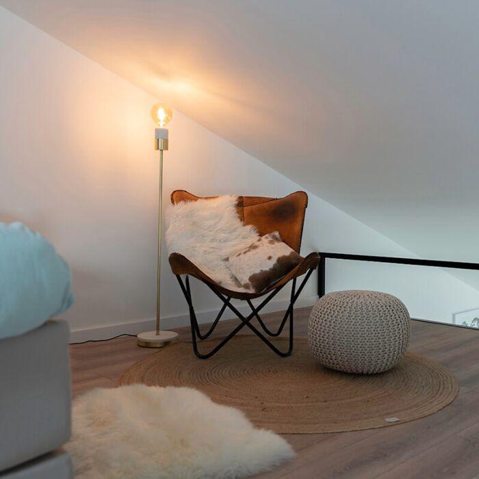 Art-Deco-Stehleuchte-Messing-mit-Marmor---Cava