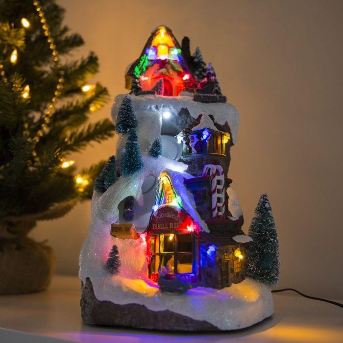 Weihnachtshaus-Piste-LED-mehrfarbig