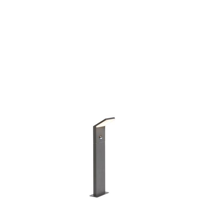 Moderne-Außenleuchte-dunkelgrau-50cm-LED-mit-Bewegungssensor---Mapi