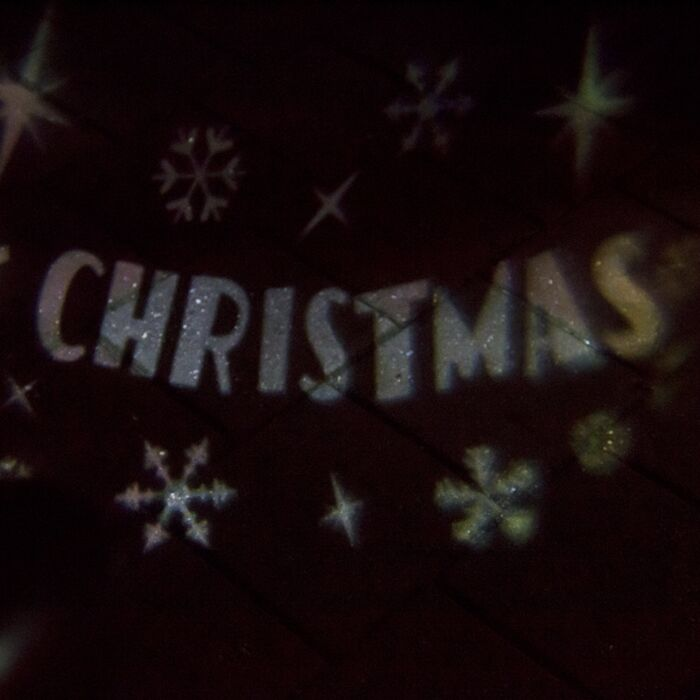 Weihnachtsbeleuchtung-Merry-X-mas-Projektor-LED-kaltweiß