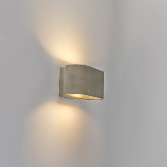 Country-Oval-Wandleuchte-Beton-IP54-inkl.-LED---Arles