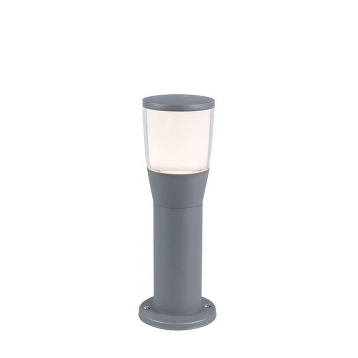 Moderne-Außenleuchte-grau-35cm-inkl.-LED---Mona