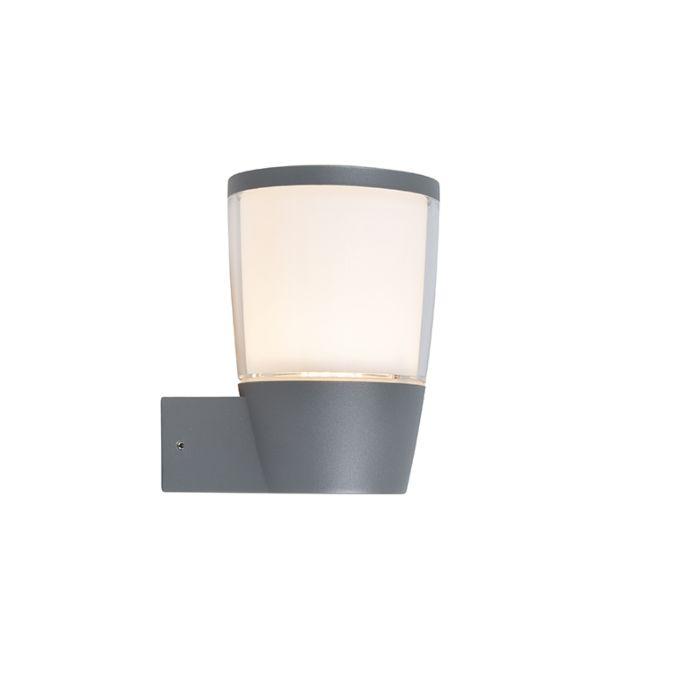 Außenleuchte-Mona-LED-grau