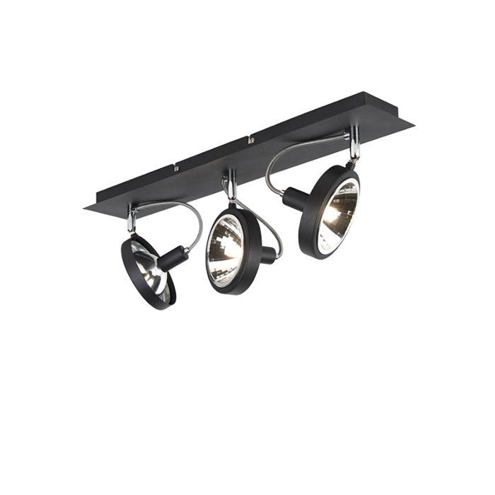 Design-Spot-schwarz-3-flammig-verstellbar---Nox
