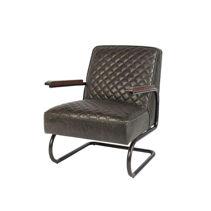 Vintage-Sessel-aus-verwittertem-alten-braunen-Leder---Eli