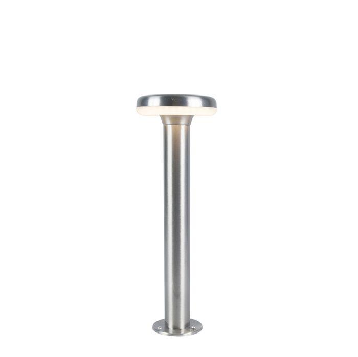 Moderne-Außenleuchte-Mast-Stahl-inkl.-LED-45cm---Terres