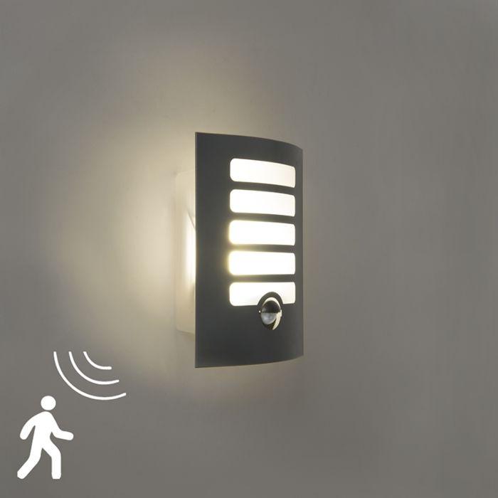 Außenwandleuchte-anthrazit-inkl.-LED-mit-Bewegungsmelder---Gitter