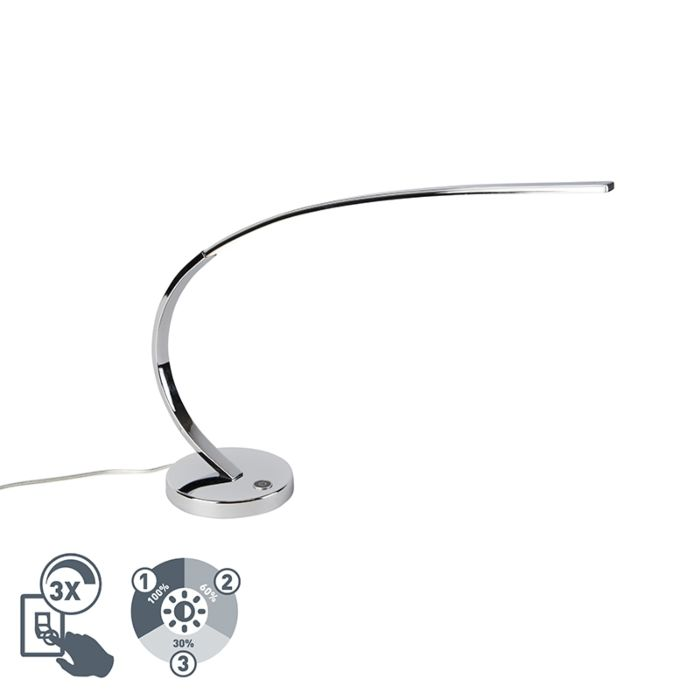 Design-Tischlampe-Chrom-inkl.-LED-dimmbar---Chromo